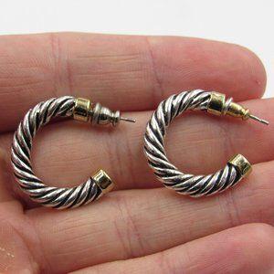 Vintage Braided Half Hoop Dangle Earrings